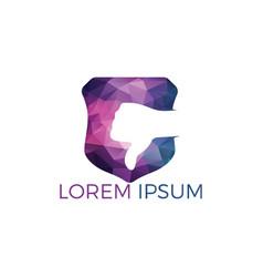 Thumbs down logo design vector