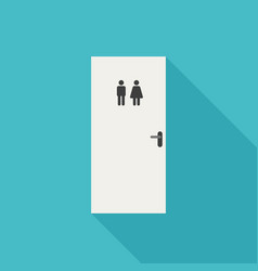 Toilet door icon vector