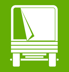 truck icon green vector image