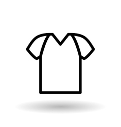 Tshirt editable icon vector