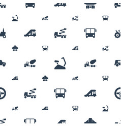 Vehicle icons pattern seamless white background vector