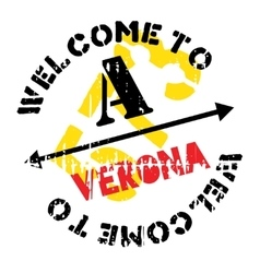 Verona stamp rubber grunge vector