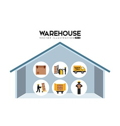 warehouse vector image