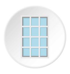 white latticed rectangle window icon circle vector image