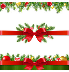 xmas garland set white background vector image