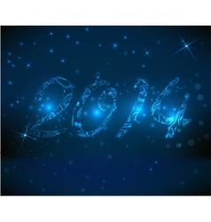 2014 blue background vector image