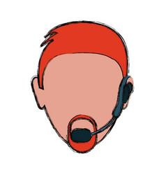 head man vector image vector image