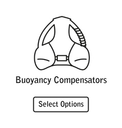 Icon buoyancy compensator scuba diving equipment vector image vector image