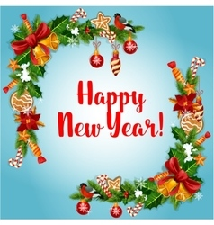 New Year holiday garland frame vector image vector image