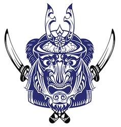 Samurai Warrior With Katana Sword vector image
