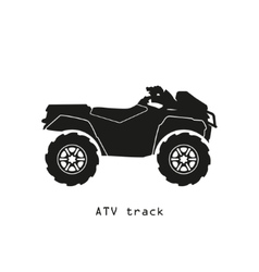 Black silhouette of ATV on a white background vector image vector image