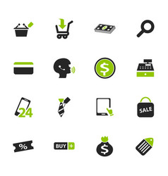 e-commerce icons set vector image vector image