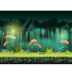 horizontal seamless of forest vector image vector image