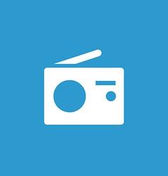 radio icon white on the blue background vector image