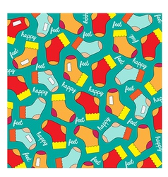 seamless background with socks vector image
