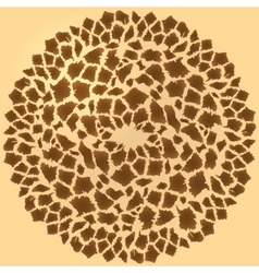 Seamless giraffe fur background vector image vector image