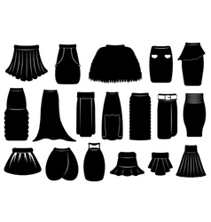 Set of different skirts vector image vector image
