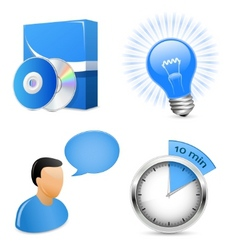 vector icons for software development company vector image vector image