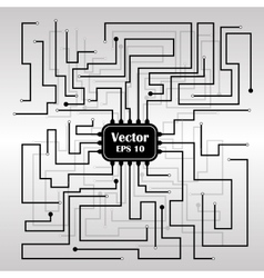 background with circuit board vector image vector image
