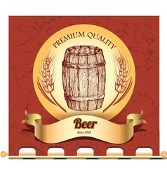 Banner with barrel vector image