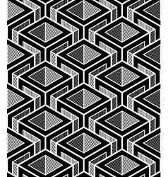 Contrast black and white symmetric seamless vector image vector image