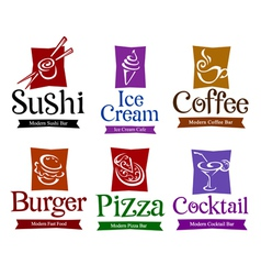 Food and drink design vector