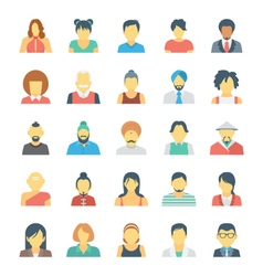 People Avatars Colored Icons 3 vector image
