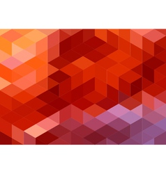 abstract red geometric background cube pattern vector image vector image