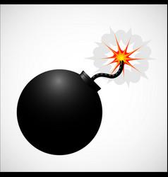 bomb realistic icon vector image vector image