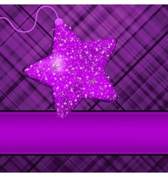 Christmas Purple Stars Background vector image vector image