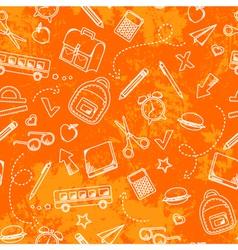 grungy school pattern vector image vector image