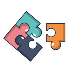 puzzle icon cartoon style vector image