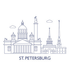 st petersburg vector image
