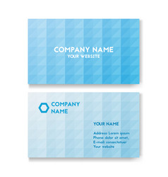 template business card for environmental vector image vector image