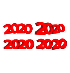 2020 happy new year advertising banner set vector