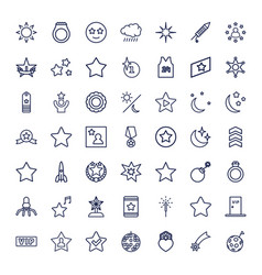 49 star icons vector