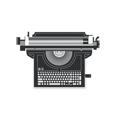 abstract drawing of a typewriter a laptop vector image