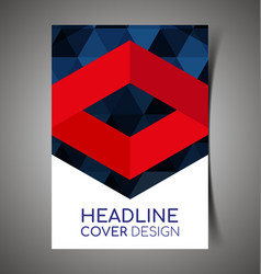 abstract report cover15 vector image
