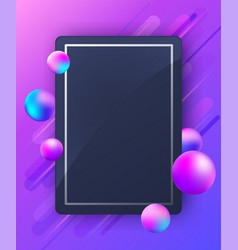 abstract violet background with falling balls vector image
