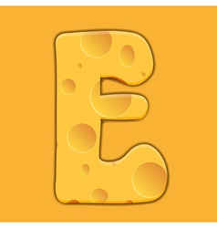 Alphabet Cheese vector