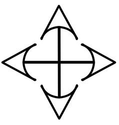 arrow cursor drag move icon vector image