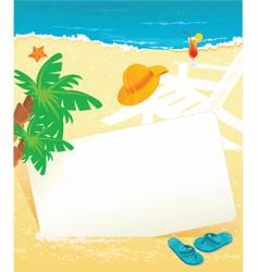 banner summer vector image