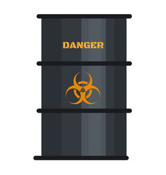 Biohazard black barrel icon flat style vector