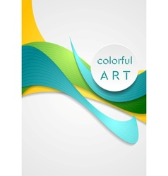 Bright corporate smooth bends colorful vector image