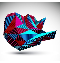 Bright decorative distorted unusual eps8 figure vector