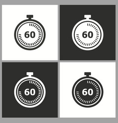 Clock time icon stopwatch timer symbol vector