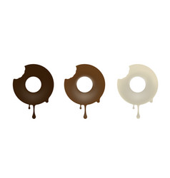 collection of chocolate baked in the shape of a vector image