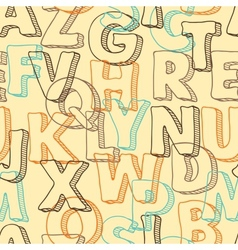 Colored seamless pattern with letters of alphabet vector image