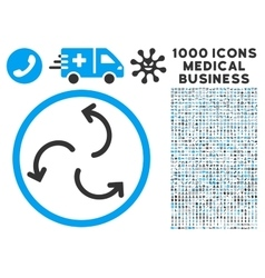 Cyclone Arrows Icon with 1000 Medical Business vector
