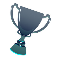 Dark trophy esports cup reward cup on isolated vector